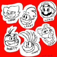 Buncha Koopa's... And Mario by SsKingdomsFury