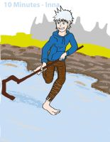 Jack Frost Hockey Pose-01 by MetalJacksonFire