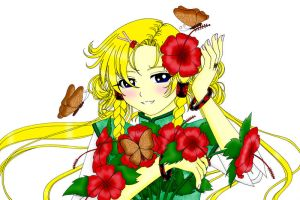 Flower girl - Colored by saphi-saphi