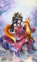 Hime to Kitsune by Maxa-art