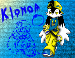 Klonoa in yellow by fizzreply