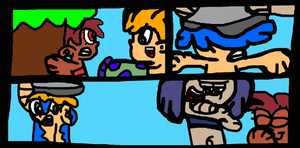 Nicky Gets Waterbuckted By Vinel by TheGr8estOne