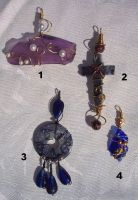 Pendants, some recycled by Vivienne-Mercier