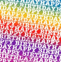 Happy Bday Rainbow Texture1 by powerpuffjazz