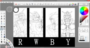 RWBY Gundams WIP by Cado-Mucro
