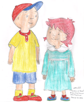 Caillou and Rosie by WillM3luvTrains