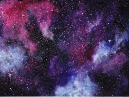 Galaxy Painting by RubyArtstyle