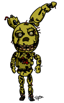 Chibi Springtrap by SpinaOscura