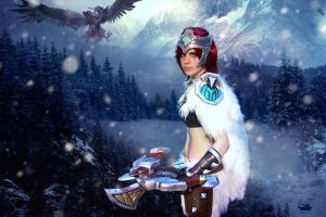 woad scout quinn cosplay - over the mountains by TigerDRena
