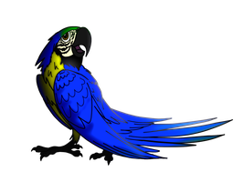 Lucy the Macaw by AnAppleForgotten