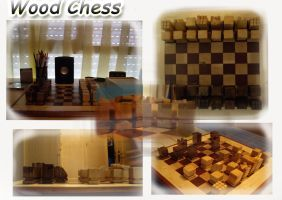 Wood Chess by Melifaith