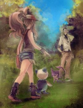 Pokemon BW - First Encounter by papelmarfil
