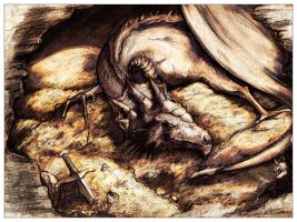 Smaug's Sweet Home by Dahlieka