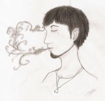 Relaxed Smoking by RoseofVictory