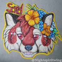 Sorrel headshot badge commission by nightspiritwing