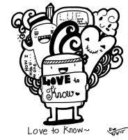 Doodle Art - (LOVE TO KNOW~) by yagakawa