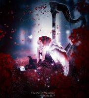 Red Harp by MelieMelusine