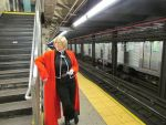 Ed Elric waiting for the MTA by kittylexy