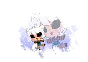 Chibi Comission 3/5: White by Angie-MR