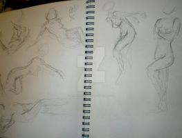 Gesture Drawings 7 by Jennawinsatart