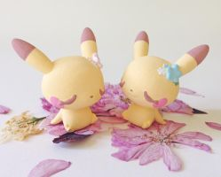 sleeping spring pikachu GIVEAWAY by wolvesrevolution