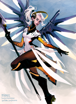 Mercy .Overwatch. by mior3e