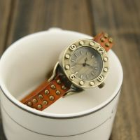 Fashion style leather watch by ailsalu