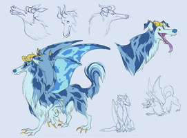 the collie dragon by shelzie