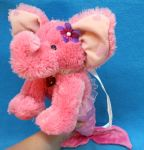PINK Mer-Elephant from recycled plush by Jadetiger