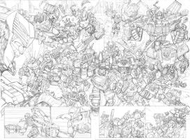 TF Universe double page spread by Dan-the-artguy