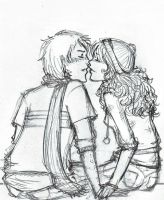 Almost Kiss, Ron Hermione by inthelaurels