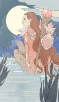 Sauvage Lady Of Otters by MargueriteSauvage