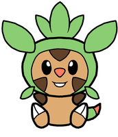 Chespin Pokedoll Art by methuselah-alchemist