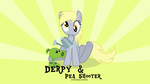 Derpy and Pea Shooter by oOBrushstrokeOo