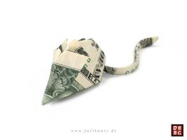 Dollar Bill Mouse by Origamikuenstler