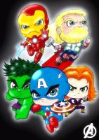 Avengers: Age of Chibi by AngelCrusher