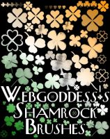 Shamrock Brushes by webgoddess