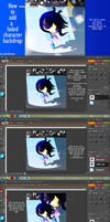 How to add a  faded character backdrop by GothicBlueEyes