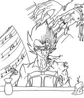 Vegeta at the piano by JillValentine89