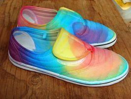 tie dye shoes by Chloe-Davis