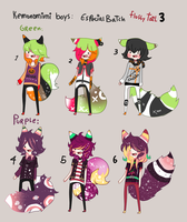 Kemonomimi - SPECIAL BATCH 3 - BOYS -CLOSED by Ayuki-Shura-Nyan