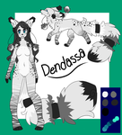 Dendassa Ref Sheet by LaurenPuff