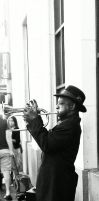 street musician Hollywood CA by capturedpoetry