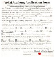 Yokai Academy Application Tag by YamiUmiRyu
