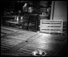 Table for one at the Lonesome Cafe... by Mojave-Plain