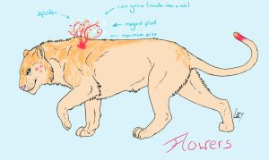 Adoptable - Flowers by CaledonCat