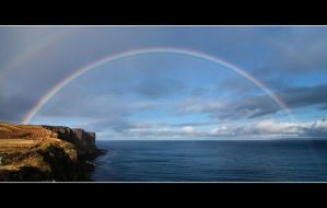 Rainbow over Kilt Rock by Rajmund67