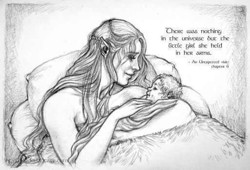Tauriel and Kiliel - Nothing in the Universe by IngvildSchageArt