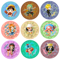 One Piece Buttons 2014 by Fishenod