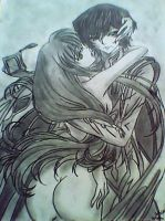 C.C. and Lelouch by sadiztah31